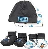 Gerber Childrenswear NFL Carolina Panthers Print Cap & Bootie Set(4 Pack), 0-6 Months, Black