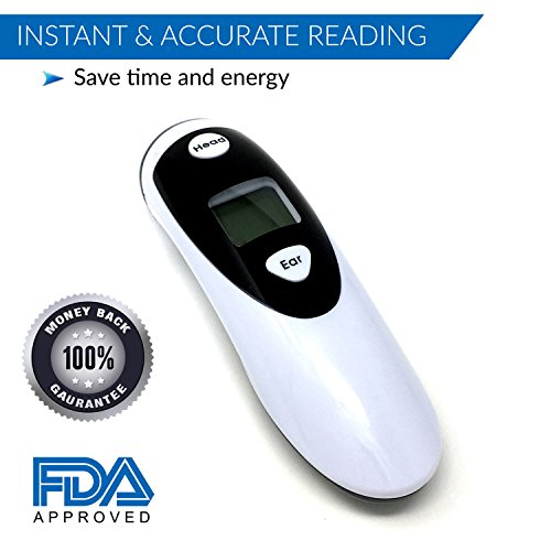 Champion IR - Medical Ear Thermometer With Forehead Function - Infared Technology & LCD Screen For Improved Accuracy by Champion IR (Image #1)