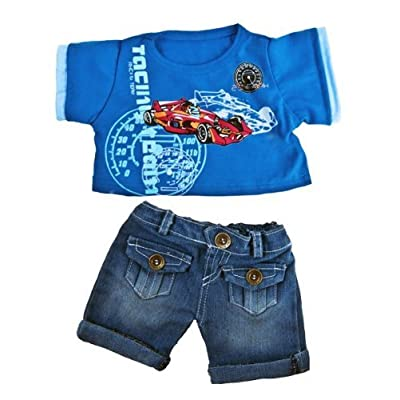 """""""Cool Racecar"""" Outfit Outfit Fits Most 14"""" - 18"""" Build-a-bear, Vermont Teddy Bears, and Make Your Own Stuffed Animals"""