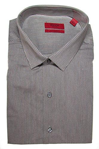 UPC 636193102407, Alfani Red Men's Fitted Performance Dress Shirt, Grey Black Fineline Stripe (17.5 32/33)