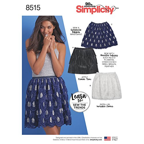 Simplicity Creative Patterns US8515A Sewing Pattern Skirts & Pants, A (A (6-8-10-12-14-16-18)