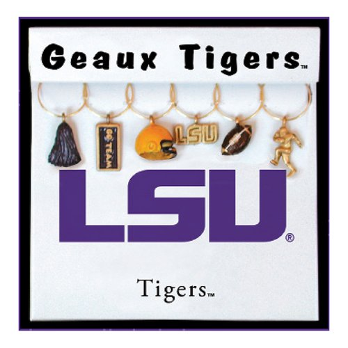 Wine Things Louisiana State University Painted Glassware Charms