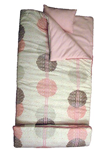 SoHo kids Queen Anne's Lace children sleeping slumber bag with pillow and carrying case lightweight foldable for sleep ()
