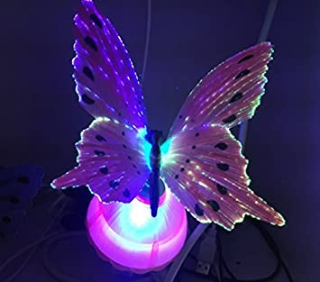 LED Fiber Optic Night Light Lamp Colorful Home Party Decor Kid Children Toy Gift
