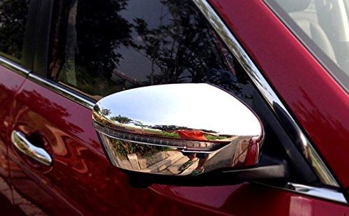 ABS Chrome Exterior Rear View Mirror Cover Trim 2PCS for Nissan Rogue X-Trail 2014-2018