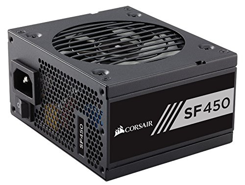 - CORSAIR SF Series, SF450, 450 Watt, SFX, 80+ Gold Certified, Fully Modular Power Supply