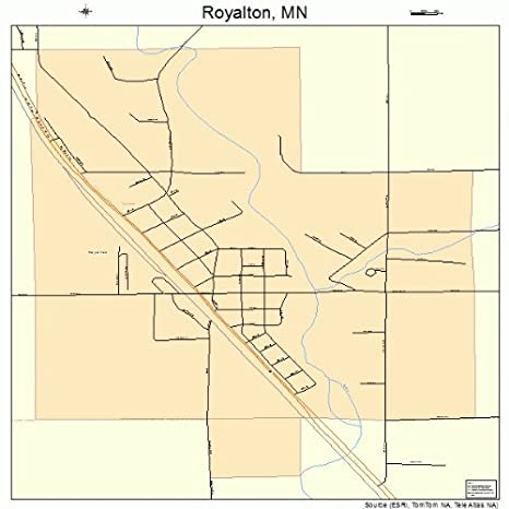 Amazon.com: Large Street & Road Map of Royalton, Minnesota MN ...