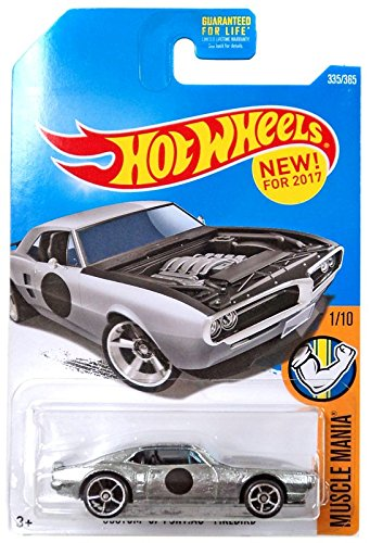 Hot Wheels 2017 Muscle Mania Custom '67 Pontiac Firebird 335/365, Silver 67 Pontiac Firebird