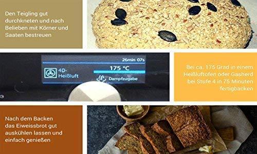 Mezcla para hornear No-Carb (Paquete la familia-900g) 20% proteico | Sin cereales | Sin gluten | Para Paleo, Keto, dieta baja en carbohidratos y ...