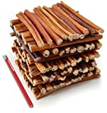 ValueBull Bully Sticks Dog Chews, 6 Inch Regular/Thin, All Natural, 100 Count