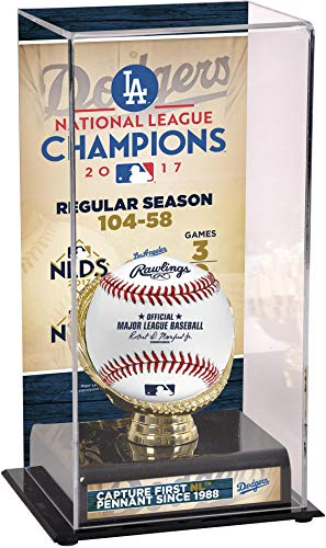 Sports Memorabilia Los Angeles Dodgers 2017 MLB National League Champions Sublimated Display Case with Image - Baseball Other Display Cases