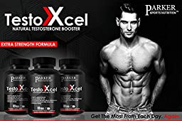 #1 Testosterone Booster for Men with Fenugreek By Parker Sports Nutrition - Strongest Testosterone Booster - 100% Money Back Guarantee - 30 Day Supply
