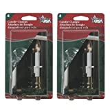 Adams Christmas 1550-99 Candle Clamps 8 pack (there are 2 packs of 4 in the bag)