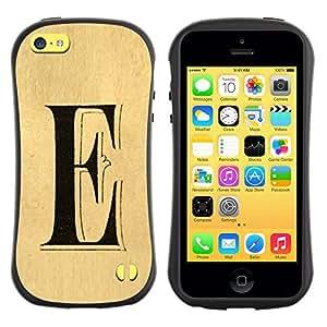LASTONE PHONE CASE / Suave Silicona Caso Carcasa de Caucho Funda para Apple Iphone 5C / e letter every Elena ellie parchment