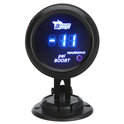 KKmoon Manómetro Digital Turbo Boost Gauge Medidor con Sensor para Auto Coche 52mm 2in LCD -