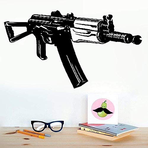 Family-decal Removable Wall Decals Inspirational Vinyl Wall Art Machine Gun Ak-47 Russian Military Army ()