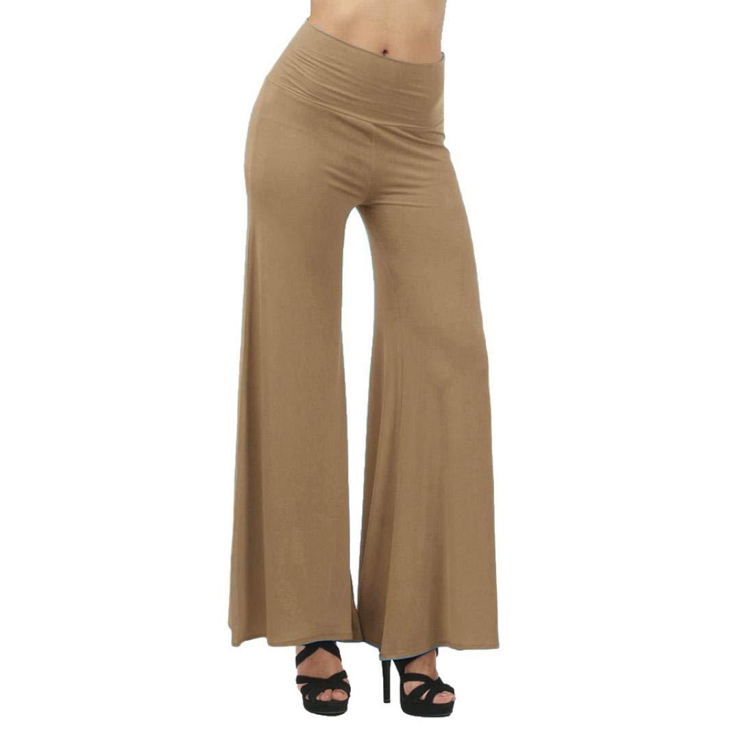 Pants For Women, Clearance! Pervobs Women Plus Size Leggings High Waist Bloomers Yoga Dance Wide Leg Pants(S, Khaki)