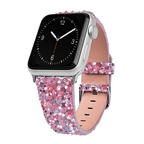 Urberry 38mm Bling Glitter Replacement Band for Apple Watch Series 2, Series 1, Sport, Edition (Pink)