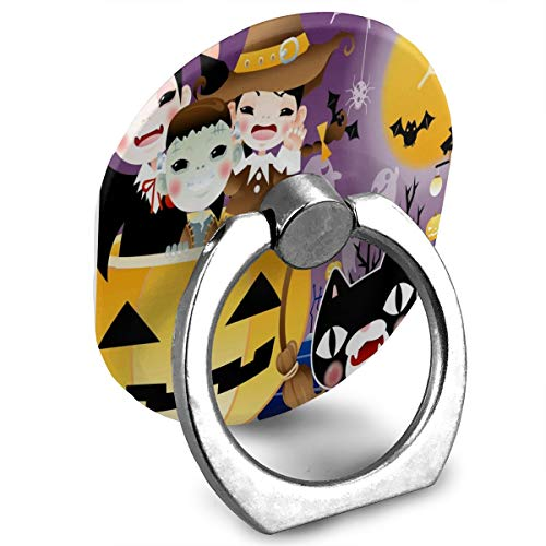 Phone Stand Halloween Background Design Ring Mobile Phone Holder Adjustable 360° Rotation Phone Finger Holder for Ipad,Kindle,Phone X/6/6S/7/8/8 Plus/7,Galaxy S9/S9 Plus/S8/S7,Android Smartphone,Divi