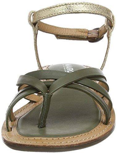 Tongs Vert Marc 556 olive Femme Mimi Shoes combi Grün wEaqapg7x