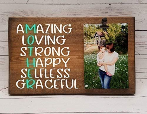 MOTHER definition, best mom, amazing loving strong happy selfless graceful mother. Photo board, wood picture frame, photo holder with clip, mother's day gift for mom