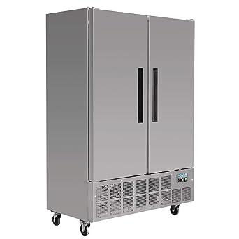 Polar 2 puerta Slimline congelador comercial 960 L restaurante ...