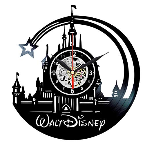 Walt Disney World Vinyl Clock - Vintage Record Wall Decor - Themed Gifts for Girls