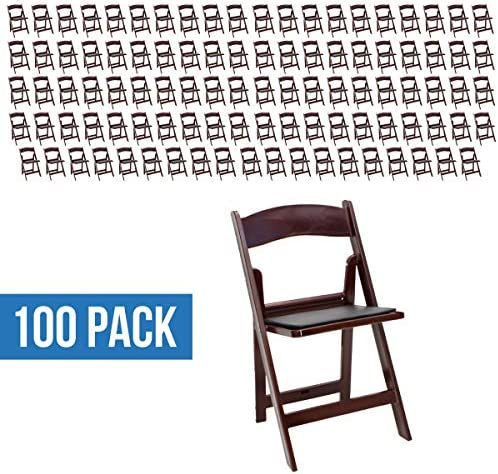 EventStable TitanPRO Resin Folding Chair – Mahogany – 100-Pack