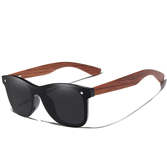 Bamboo Wood Polarized Sunglasses- Ultra-Light Maple Frame, Mirror Lenses,The Best Choice For Men & Women Travelers!