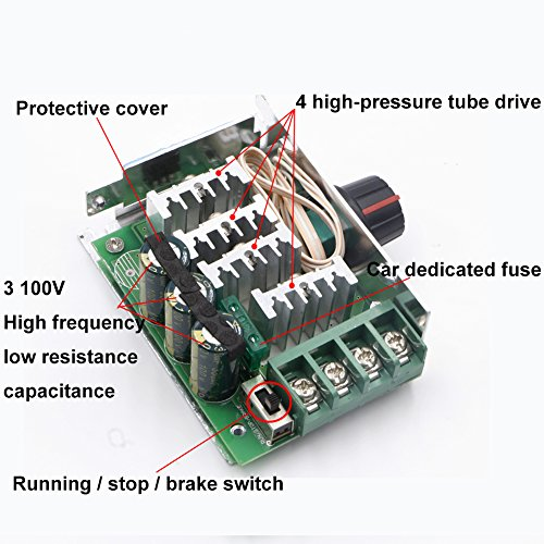 riorand 7 80v pwm dc motor speed controller switch 30a. Black Bedroom Furniture Sets. Home Design Ideas