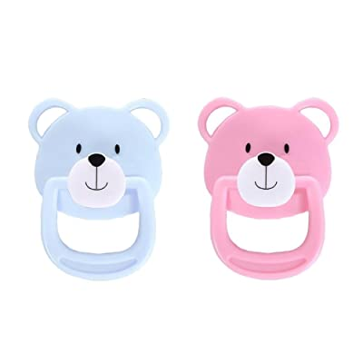 2 Pcs Reborn Doll Accessories Magnetic Pacifier Soother for The Simulated Baby Doll : Baby [5Bkhe0502001]