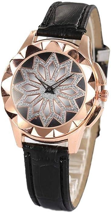 Elesoi Reloj de Pulsera de Diamantes de imitación con Hebilla de Punta Redonda para Mujer Relojes de Pulsera