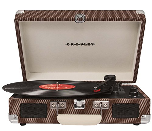 Best Price Crosley CR8005A-TW Cruiser Portable 3-Speed Turntable, Tweed (Certified Refurbished)