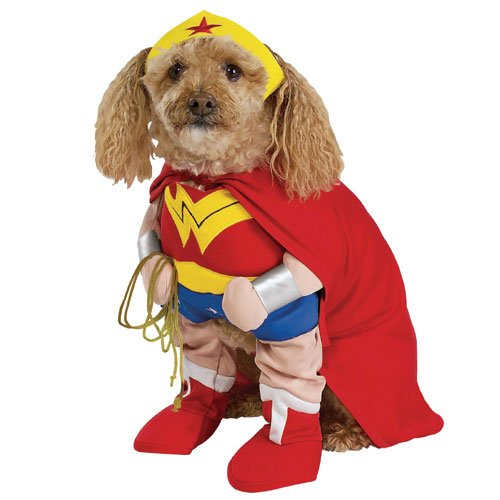 Wonder Woman Deluxe Dog Costumes (Wonder Woman Dog Pet Costume - Medium)