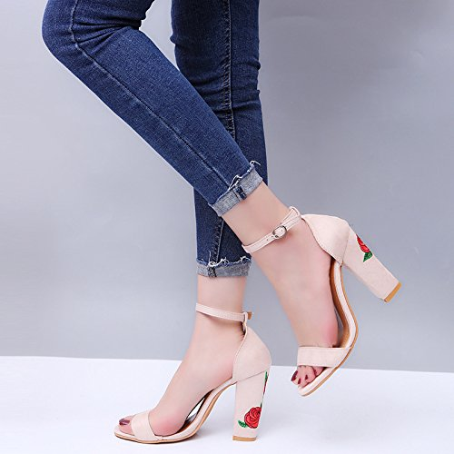 Donyyyy Zapatos bordados sandalias para zapatos de mujer Thirty-nine