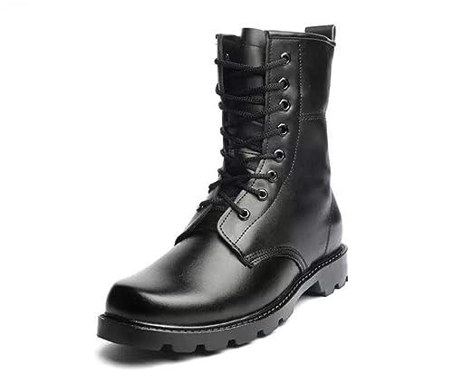 Hombre Botas de Piel Botas Tácticas de Combate Transpirables Botas  Militares Zapatos de Tobillo al Aire Libre  Amazon.es  Zapatos y  complementos 671bbe44ed84e