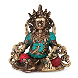 Kuber Yantra Wealth Turquoise Handwork Dhan Hindu God Sculpture