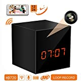 PANORAXY 24-Hour Only Mini WiFi Spy Hidden Camera Clock With Night Vision ,10mtrs Fluent Detailed Video And Sound Remote Control for IOS and Android Smartphone