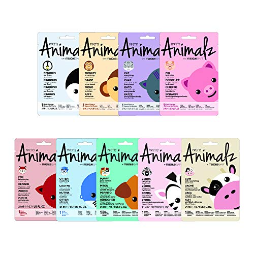 masque Bar 9 Piece Pack Mask Bundle, Pretty Animalz Sheet, 0.45 Pound