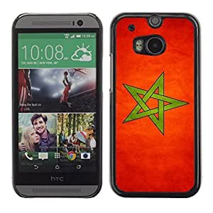 ( National Flag Series-Morocco ) Snap On Hard Protective Case For All New HTC One (M8)