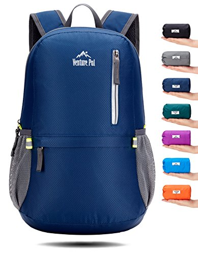 Venture Pal 25L Travel Backpack - Durable Packable Lightweight Small Backpack Women Men (Navy)