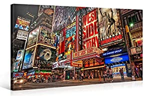Large Canvas Print Wall Art U2013 MUSICAL BROADWAY U2013 40x20 Inch New York  Cityscape Canvas Picture Stretched On A Wooden Frame U2013 Giclee Canvas  Printing U2013 Hanging ... Part 92