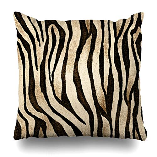Ahawoso Throw Pillow Covers Camouflage Blue Leopard Tiger Skin Pattern Brown Zebra Cheetah Winter Fur Paint Home Decor Pillowcase Square Size 20