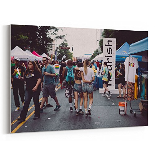 Westlake Art Canvas Print Wall Art - Car Crowd on Canvas Stretched Gallery Wrap - Modern Picture Photography Artwork - Ready to Hang - (Party City In Charlotte)