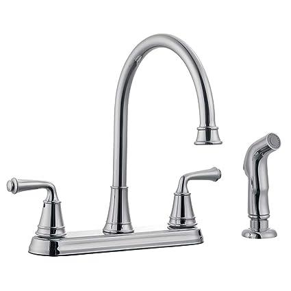 Marvelous Design House 524710 Eden Kitchen Faucet With Side Sprayer, Polished Chrome