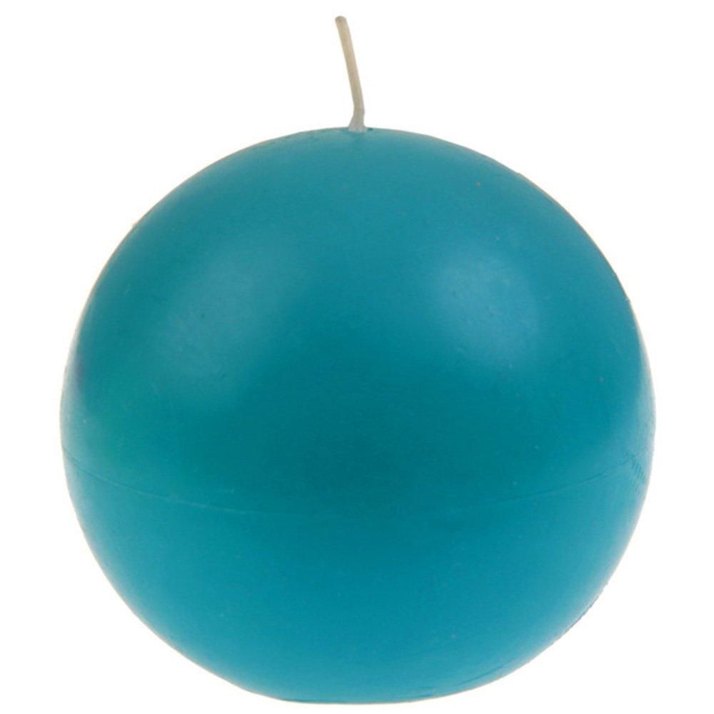 SANTEX 4307-8, Bougie ronde 7cm, Turquoise Santex mariage