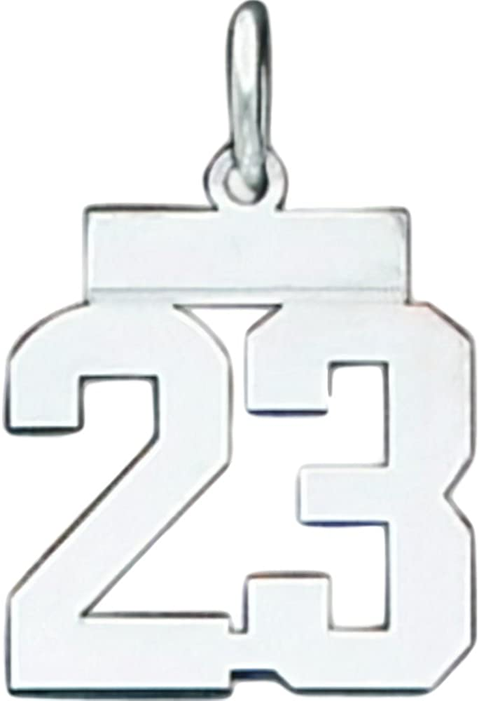 Sterling Silver Small Polished Number 4 Charm Pendant