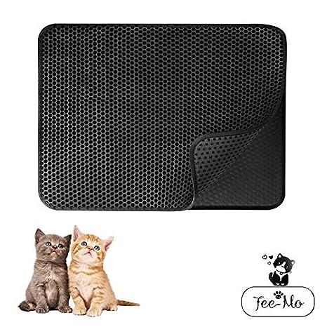 Tee-Moo Tapete para Gatos, Doble Capa Honeycomb Impermeable a Prueba de orina Capa Base Antideslizante Cat Trampero Mat EVA Foam Rubber, fácil de Limpiar: ...
