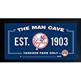 MLB Man Cave Framed 10x20 Sign w/ Authentic Game-Used Dirt (MLB Auth)