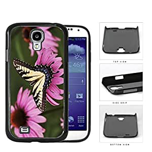 Yellow Butterfly And Pink Flower Garden Hard Plastic Snap On Cell Phone Case Samsung Galaxy S4 SIV I9500